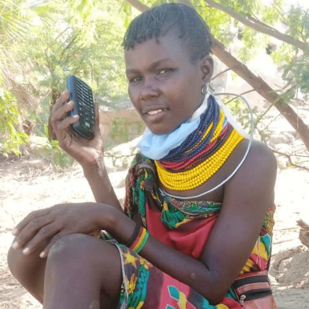 TWR Audio Bible recipient girl