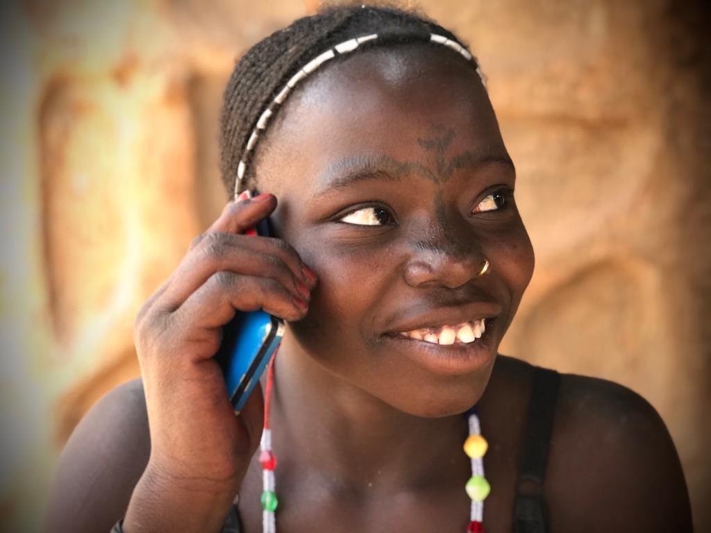Nigerian girl listening to Hausa audio Bible