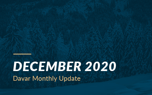 December 2020 Davar Monthly Update