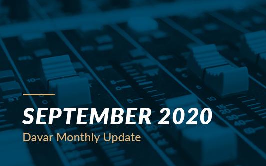 September 2020 Davar Monthly Update