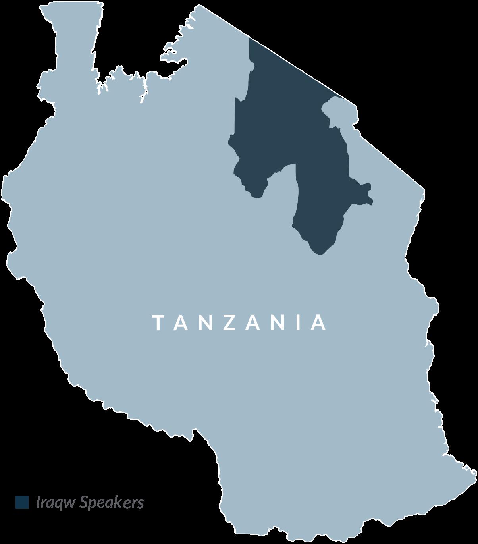 Tanzania Iraqw Map